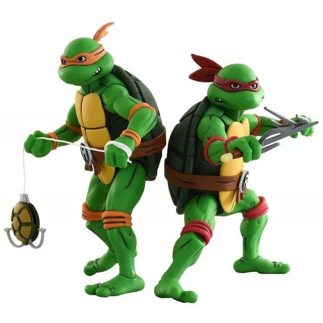 NECA  Teenage Mutant Ninja Turtles Action Figure 2-Pack Michelangelo & Raphael 18 cm