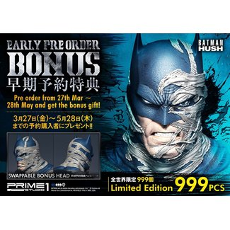 Prime 1 Studio Batman Hush Statue 1/3 Batman Batcave Deluxe Bonus Version 88 cm