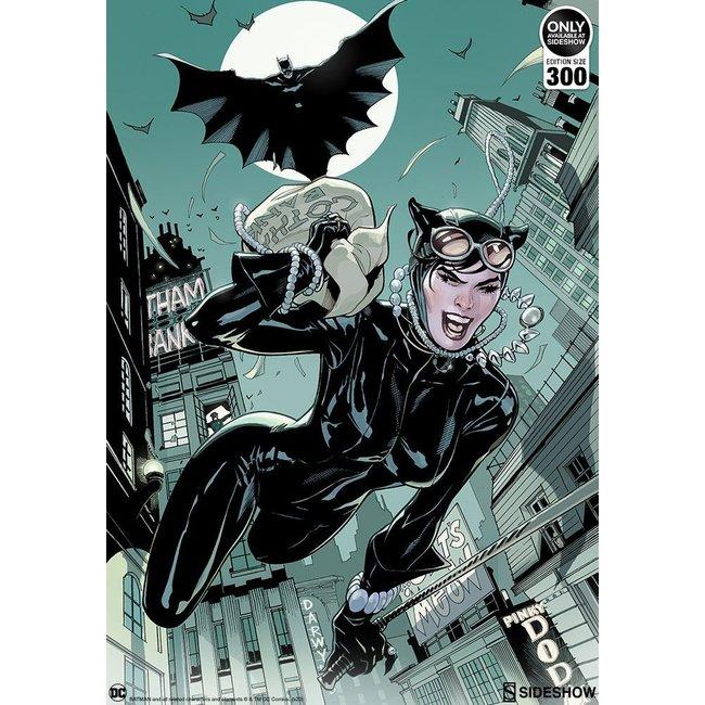 Sideshow Collectibles DC Comics Art Print The Getaway: Batman & Catwoman 46 x 61 cm - unframed