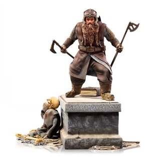 Iron Studios Lord Of The Rings Deluxe BDS Art Scale Statue 1/10 Gimli 21 cm