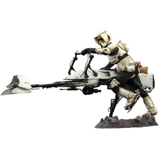 Hot Toys Star Wars The Mandalorian Action Figure 1/6 Scout Trooper & Speeder Bike 30 cm
