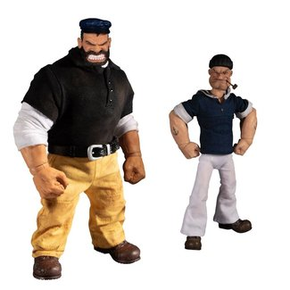 Mezco Toys Popeye Action Figures 1/12 Popeye & Bluto: Stormy Seas Ahead Deluxe Box Set