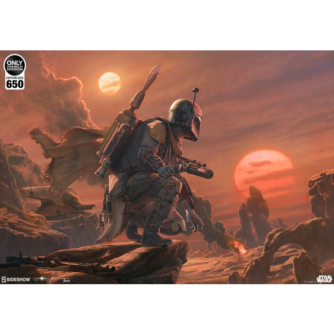 Sideshow Collectibles Star Wars Art Print Boba Fett: Dead or Alive 46 x 61 cm - unframed