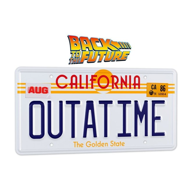Doctor Collector Back To The Future Replica 1/1 ´Outatime´ DeLorean License Plate