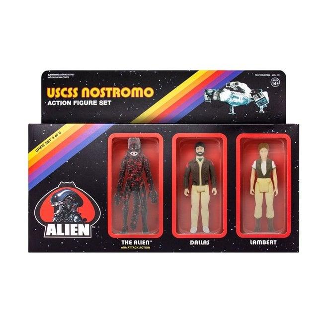 Super7 Alien ReAction Action Figure 3-Pack Pack C 10 cm