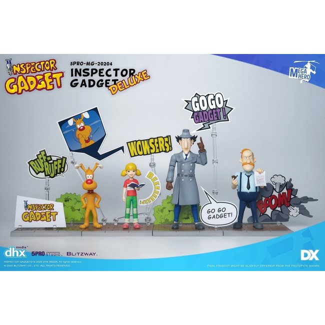 Inspector Gadget Deluxe Version 1:12 Scale 3 Piece Set