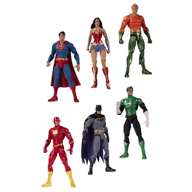 DC Collectibles DC Essentials Action Figure 6-Pack Justice League 18 cm