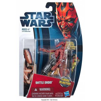 Hasbro Movie Heroes Battle Droid Red