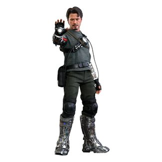 Hot Toys Iron Man Movie Masterpiece Action Figure 1/6 Tony Stark (Mech Test Deluxe Version) 30 cm