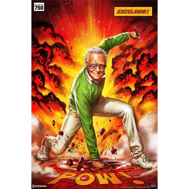 Sideshow Collectibles Marvel Art Print Stan Lee Excelsior - unframed