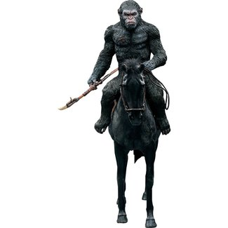 Star Ace Toys Dawn of the Planet of the Apes Soft Vinyl Statue Caesar with Spear 39 cm