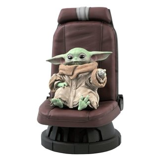 Star Wars The Mandalorian Premier Collection 1/2 The Child in Chair 30 cm