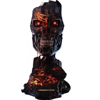 Pure Arts Terminator 2: T-800 Battle Damaged 1:1 Scale Art Mask Statue