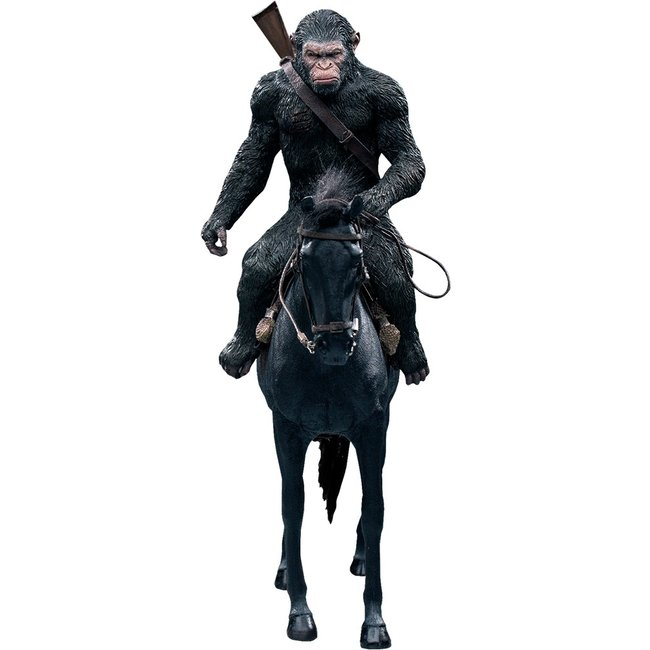 Star Ace Toys War for the Planet of the Apes Soft Vinyl Statue Caesar with Gun 39 cm