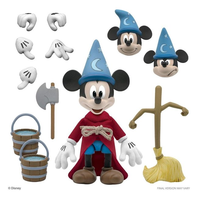 Super7 Disney Ultimates Action Figure Sorcerer's Apprentice Mickey Mouse 18 cm