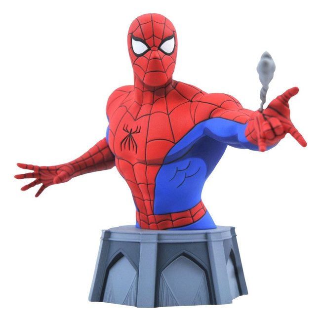 Diamond Select Toys Spider-Man: The Animated Series Bust 1/7 Spider-Man 15 cm