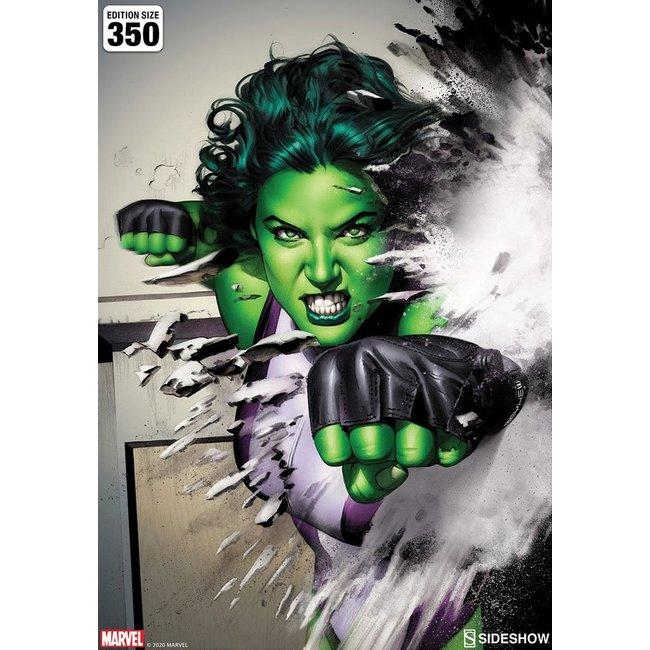 Sideshow Collectibles Marvel Art Print She-Hulk 46 x 61 cm - unframed