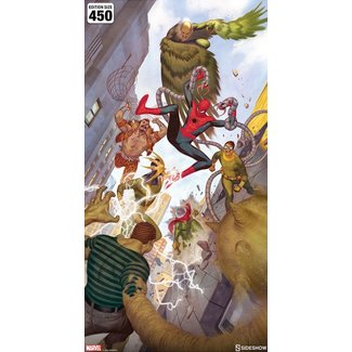 Sideshow Collectibles Marvel Art Print Spider-Man vs Sinister Six 43 x 74 cm - unframed