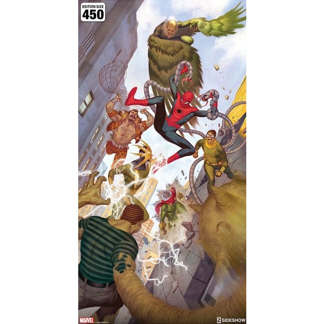Sideshow Collectibles Marvel Art Print Spider-Man vs Sinister Six 43 x 74 cm - unframed