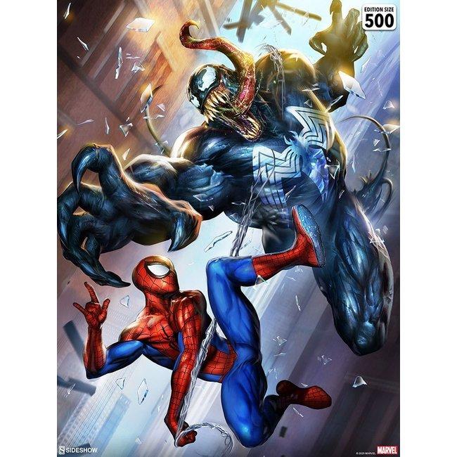Sideshow Collectibles Marvel Art Print Spider-Man vs Venom 46 x 61 cm - unframed