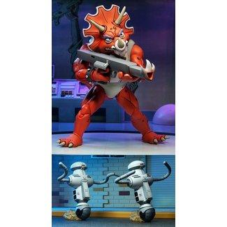 NECA  Teenage Mutant Ninja Turtles Action Figure 3-Pack Triceraton Infantryman & Roadkill Rodney 18 cm