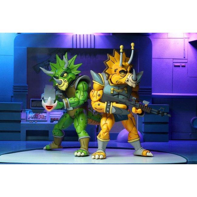 NECA  Teenage Mutant Ninja Turtles Action Figure 2-Pack Captain Zarax & Zork 18 cm
