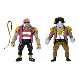 Teenage Mutant Ninja Turtles: Turtles in Time Action Figure 2-Pack Pirate Rocksteady & Bebop 18 cm