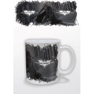 Dark Knight Rises Mug White Logo