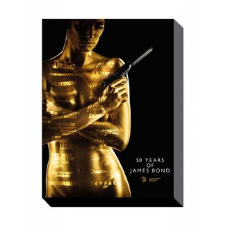 Pyramid International James Bond Canvas Print 50th Anniversary