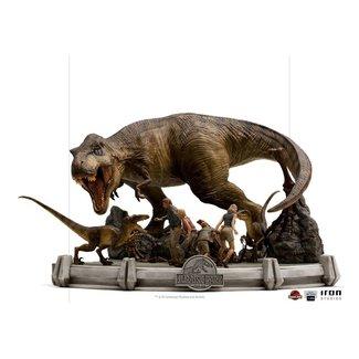 Iron Studios Jurassic Park Demi Art Scale Statue 1/20 The Final Scene 48 cm