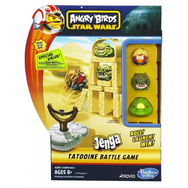 Hasbro Angry Birds Jenga Tatooine Battle Game