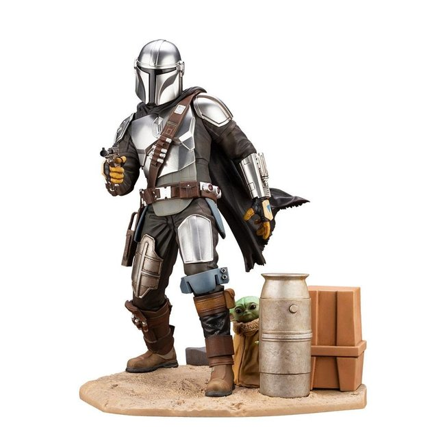 Kotobukiya  Star Wars The Mandalorian ARTFX Statue 1/7 Mandalorian & The Child 26 cm