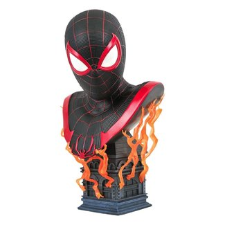 Diamond Select Toys Marvel Gamerverse Legends in 3D Bust 1/2 Miles Morales 25 cm