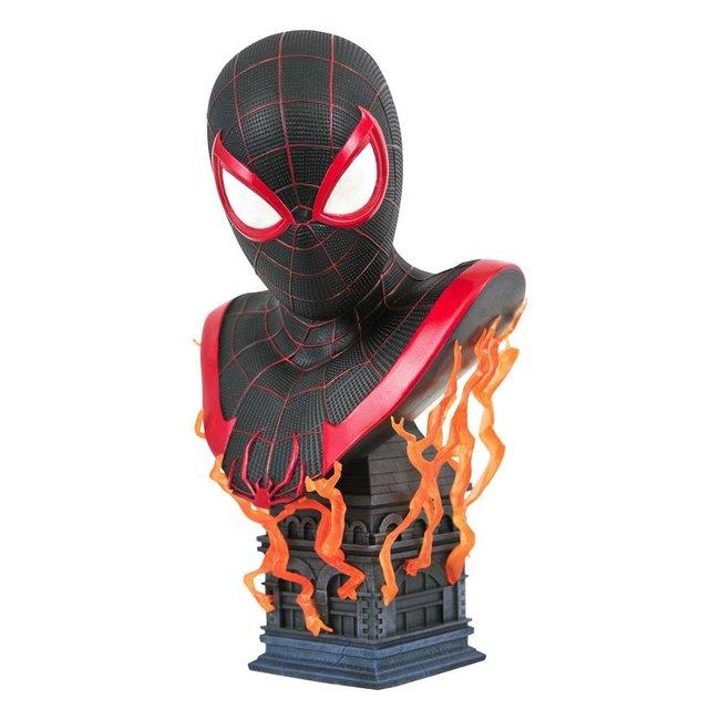 Diamond Select Toys Marvel Gamerverse Legends in 3D Bust 1/2 Miles Morales 25 cm