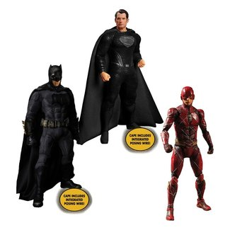 Mezco Toys Zack Snyder's Justice League Action Figures 1/12 Deluxe Steel Box Set 15 - 17 cm