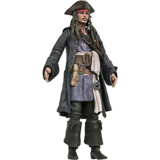 Diamond Select Toys Pirates of the Caribbean Deluxe Action Figure Jack Sparrow 18 cm