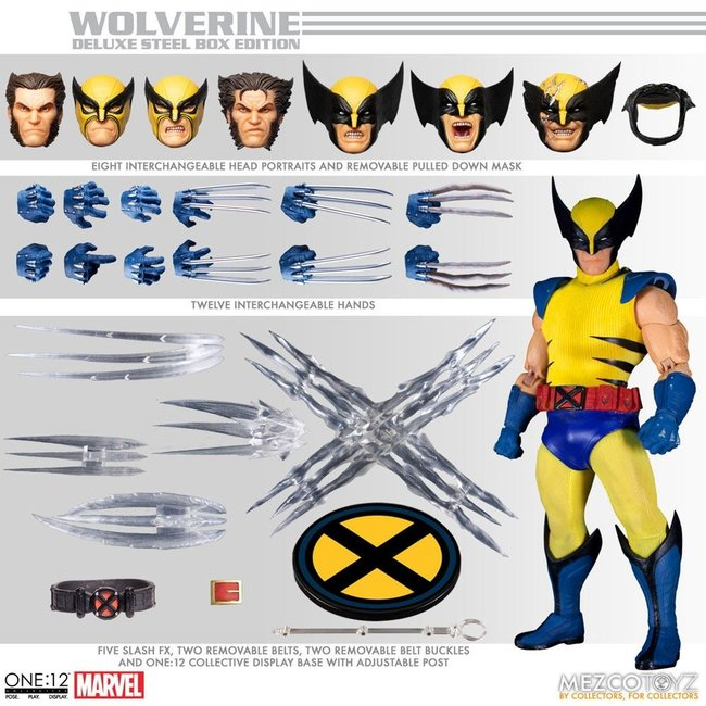 Marvel Universe Action Figures 1/12 Wolverine Deluxe Steel Box Edition 16 cm