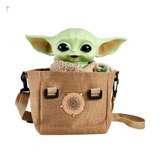 Mattel Star Wars The Mandalorian Electronic Plush Figure with Shoulder Bag The Child 28 cm