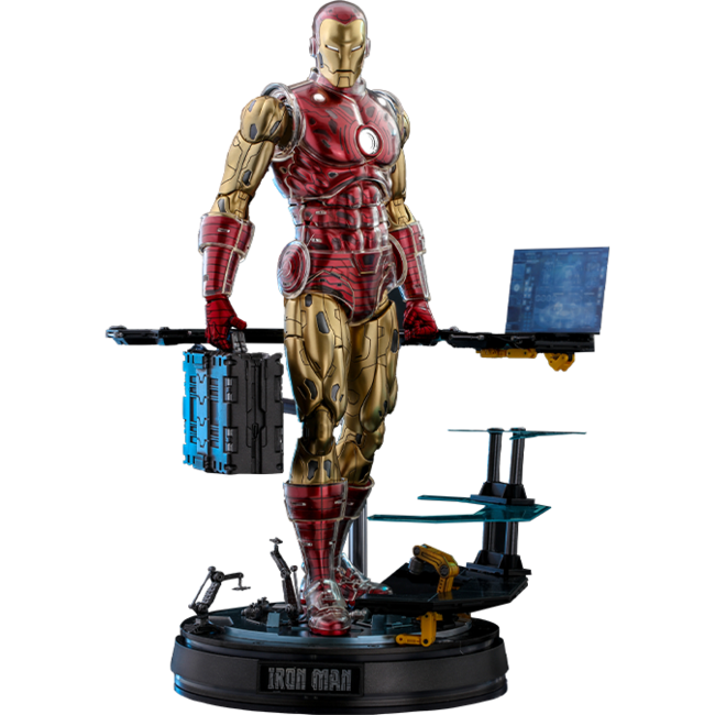 Hot Toys Iron Man Origins Collection Deluxe Diecast Figure 1/6 Iron Man Suit Armor