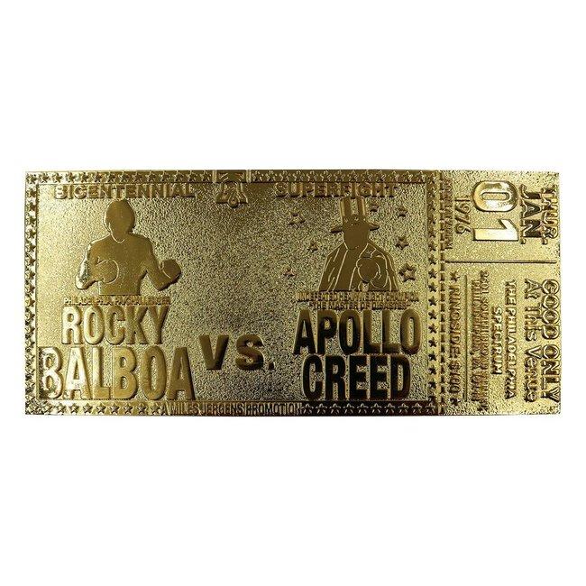 FaNaTtik Rocky Replica 45th Anniversary Bicentennial Superfight Ticket (gold plated)