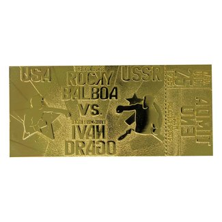 FaNaTtik Rocky IV Replica East vs. West Fight Ticket (gold plated)