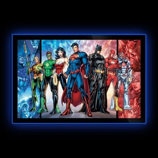 DC Comics: Justice League of America Comic Cover LED Poster Sign