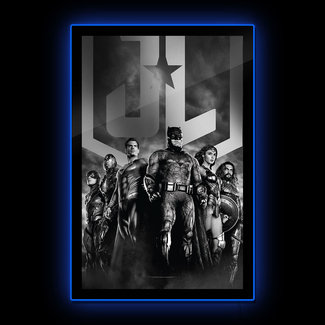 Brandlite DC Comics: Zack Snyder's Justice League - Black and White Group Scene LED Poster Sign
