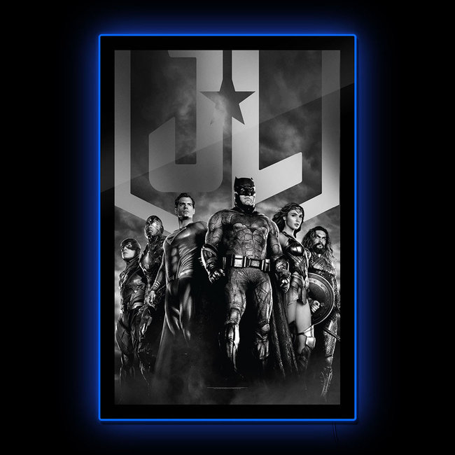 DC Comics: Zack Snyder's Justice League - Black and White Group Scene LED Poster Sign