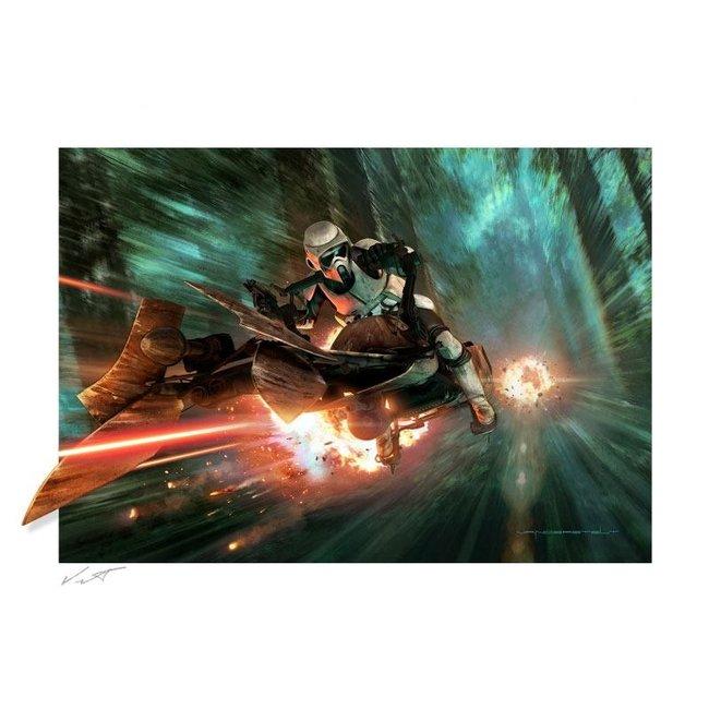 Sideshow Collectibles Star Wars: Episode VI Fine Art Print Endor Chase 61 x 91 cm