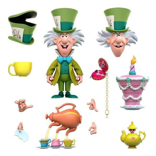 Super7 Alice in Wonderland Disney Ultimates Action Figure The Tea Time Mad Hatter 18 cm