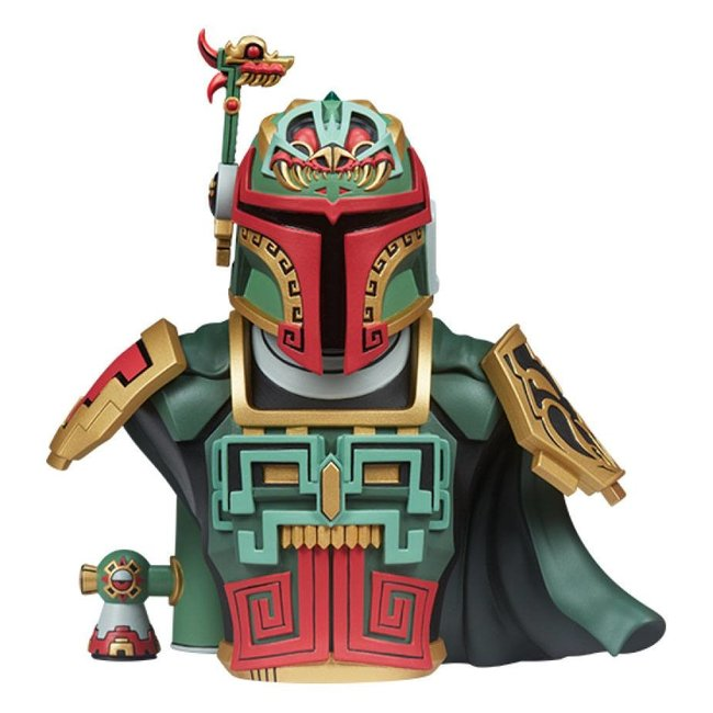 Unruly Industries Star Wars Urban Aztec Vinyl Bust Boba Fett by Jesse Hernandez 20 cm