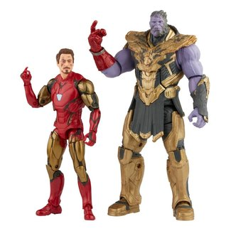 Hasbro The Infinity Saga Marvel Legends Series Action Figure 2-Pack 2021 Iron Man & Thanos (Endgame) 15 cm