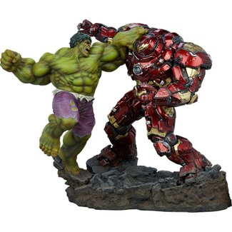 Sideshow Collectibles Marvel Maquette Hulk vs Hulkbuster 50 cm