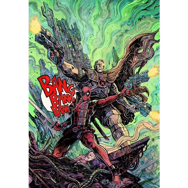 Sideshow Collectibles Marvel Art Print Deadpool & Cable 46 x 61 cm - unframed
